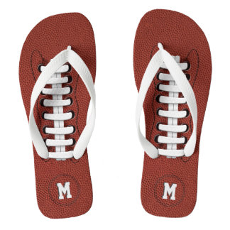 Monogram American Football Flip Flops