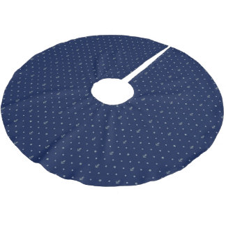 Monogram Anchor Polka Dots Pattern 2 Brushed Polyester Tree Skirt