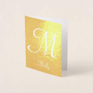 Monogram and Name Templates Foil Card