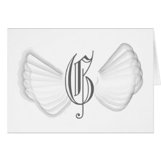 Monogram Angel's Wings-Customize Card
