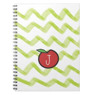 Monogram Apple Teacher Notebook