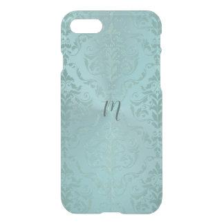 Monogram Aqua Antique Uncommon iPhone Case. iPhone 8/7 Case