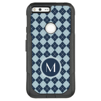 Monogram | Argyle In Blues OtterBox Commuter Google Pixel XL Case