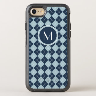 Monogram | Argyle In Blues OtterBox Symmetry iPhone 8/7 Case
