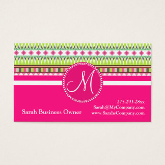 Monogram Aztec Andes Trial Mountains Diamonds Business Card