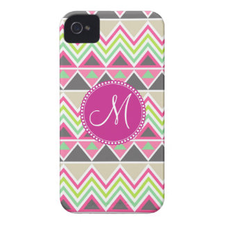 Monogram Aztec Andes Tribal Mountains Chevron iPhone 4 Cases