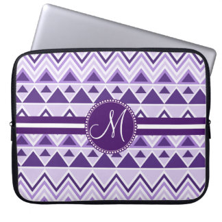 Monogram Aztec Andes Tribal Mountains Triangles Laptop Sleeve