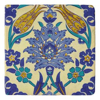 Monogram Azulejo Ceramic Style Vintage Ornament Trivet