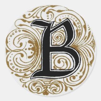Monogram 'B' in Gold - Sticker