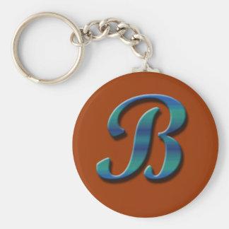 Monogram B Keychain