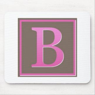 monogram b mouse pad