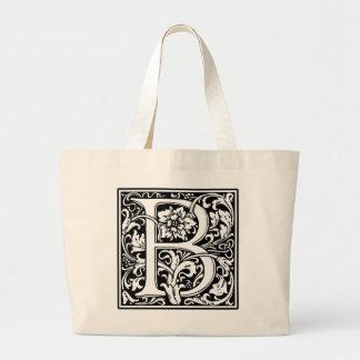 Monogram B tote bag