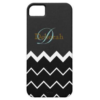 monogram ~ b&w chevron iPhone 5 covers