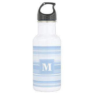 Monogram baby blue stripes 532 ml water bottle