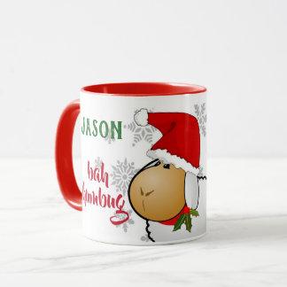 MONOGRAM Bah Humbug Christmas Mug