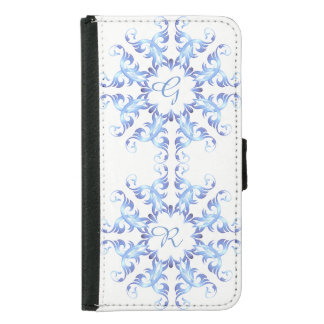 Monogram.Baroque element. Samsung Galaxy S5 Wallet Case