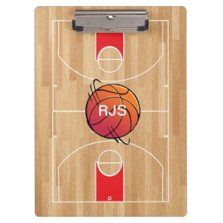 Monogram Basketball on basketball court Clipboards