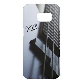 Monogram Bass Guitar Music Samsung Galaxy S7 Case
