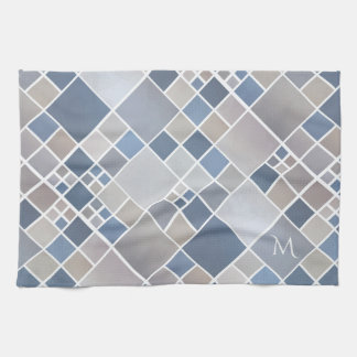 Monogram Beach Geometric Pattern Kitchen Towel
