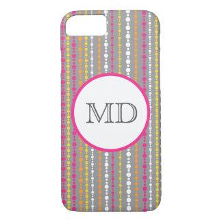 Monogram beaded stripe iPhone 7 case