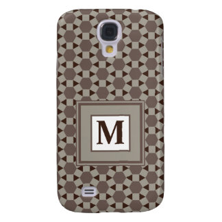 Monogram Beige and Brown Tessellation Pattern