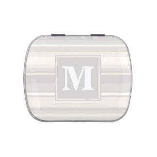 Monogram beige stripes