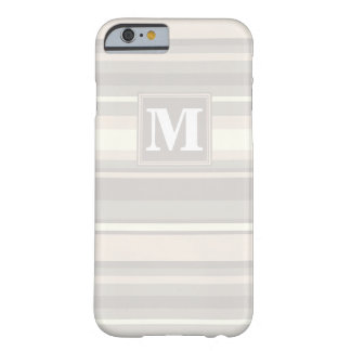 Monogram beige stripes barely there iPhone 6 case
