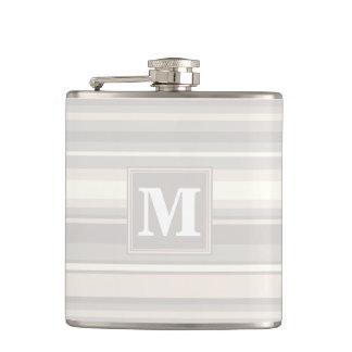 Monogram beige stripes flask
