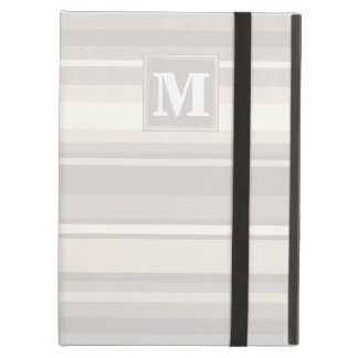 Monogram beige stripes iPad air covers