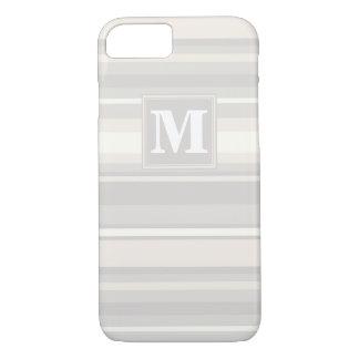 Monogram beige stripes iPhone 7 case