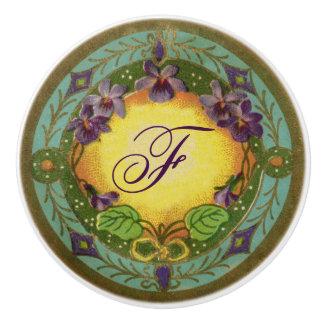 Monogram Belle Epoch French Violet Ceramic Knob