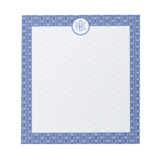 Monogram bicycle wheels pattern notepad