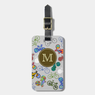 monogram bicycles distinguish luggage tag