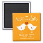 Monogram Birds Save The Date Magnet