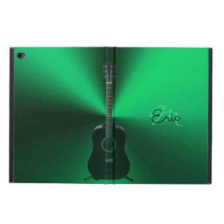 Monogram Black Acoustic Guitar Music iPad Case