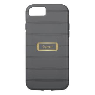 Monogram black and gold iPhone 7 case