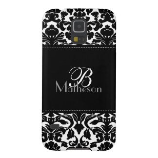 Monogram Black and White Damask Samsung Nexus Galaxy S5 Cover