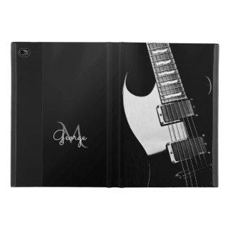 Monogram Black and White Guitar Music iPad Mini 4 Case