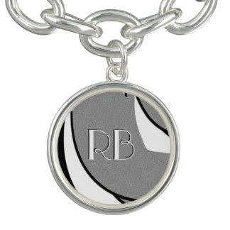 Monogram Black and White Shape Art Bracelet