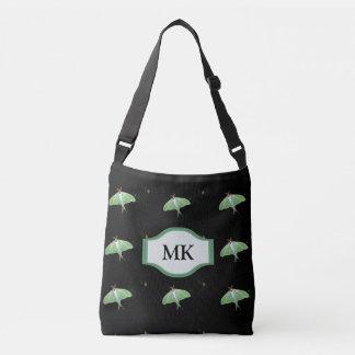 Monogram Black Luna Moth Pattern Tote Bag