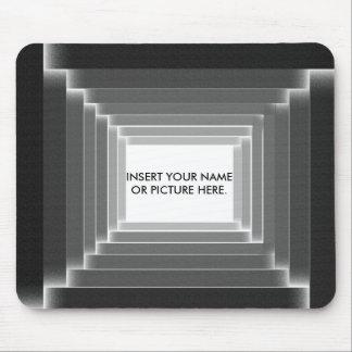 Monogram Black Monochromatic Mouse Pad