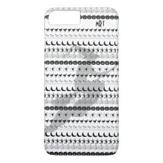 Monogram: Black/White Halloween Fun Font Art iPhone 8 Plus/7 Plus Case