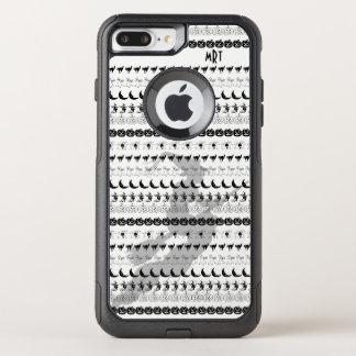 Monogram: Black/White Halloween Fun Font Art OtterBox Commuter iPhone 8 Plus/7 Plus Case