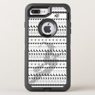 Monogram: Black/White Halloween Fun Font Art OtterBox Defender iPhone 8 Plus/7 Plus Case