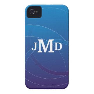 Monogram BlackBerry Bold Cases Blue Design