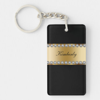 Monogram Bling Keychains