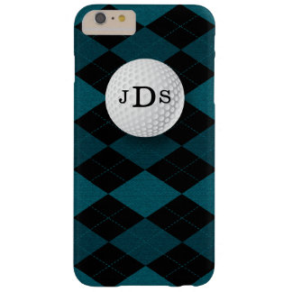 Monogram Blue Argyle, Golf Ball iPhone 6 Plus Case