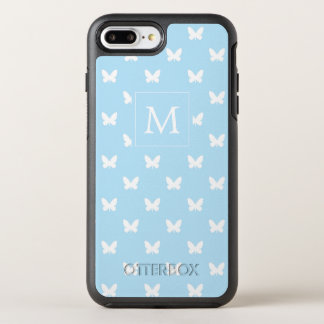 Monogram | Blue Butterflies OtterBox Symmetry iPhone 8 Plus/7 Plus Case
