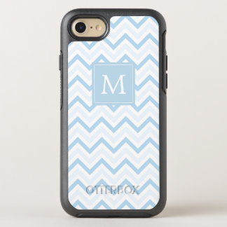 Monogram | Blue Chevron OtterBox Symmetry iPhone 8/7 Case