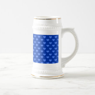 Monogram blue hearts mugs